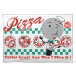 Pizza cualquier rebanada de la manera I él Placema Manteles