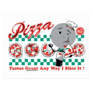 Pizza cualquier rebanada de la manera I él Postales