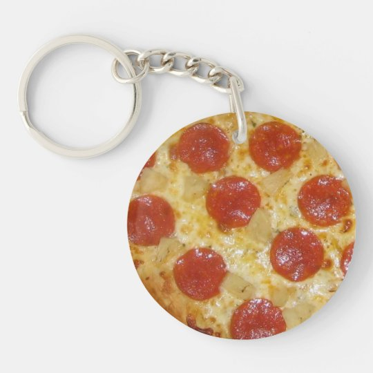 PIZZA custom key chain