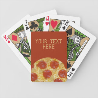 PIZZA custom playing cards