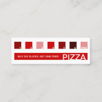 PIZZA customer appreciation (mod squares) Loyalty Card