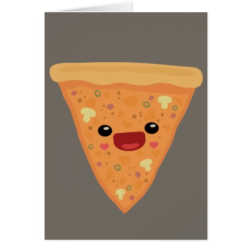Pizza Cutie Greeting Card