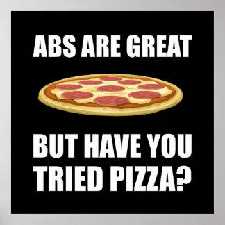 Pizza de Abdominals Póster