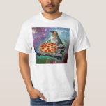 Pizza de DJs del gato del espacio Playera