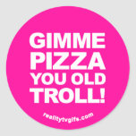 Pizza de Gimme - pegatinas