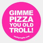 Pizza de Gimme - pegatinas Etiquetas Redondas