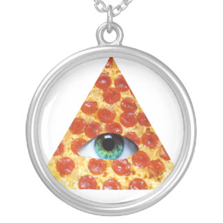 Pizza de Illuminati Pendientes Personalizados