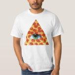 Pizza de Illuminati Playera