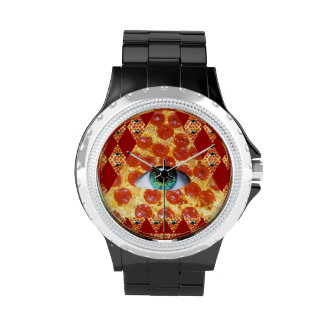 Pizza de Illuminati Reloj