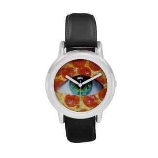 Pizza de Illuminati Relojes De Mano