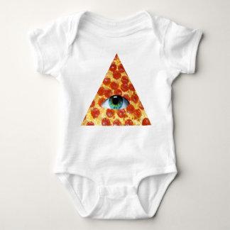 Pizza de Illuminati Remeras