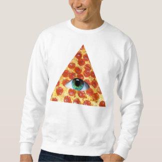 Pizza de Illuminati Sudadera