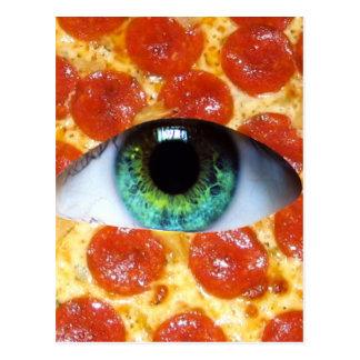 Pizza de Illuminati Tarjeta Postal