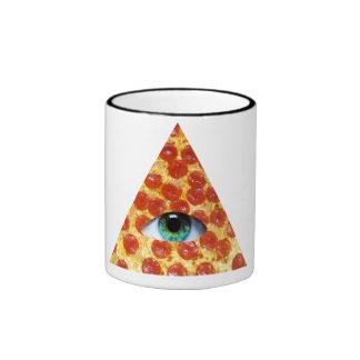 Pizza de Illuminati Taza A Dos Colores