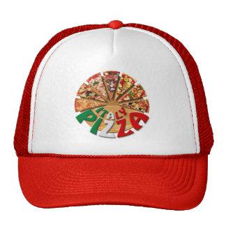 Pizza de Italia del gorra en la tabla de cortar