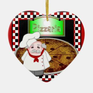 Pizza de Italiano del cocinero - ornamento en Ornamentos De Reyes Magos