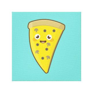 Pizza de Kawaii Impresión En Lienzo