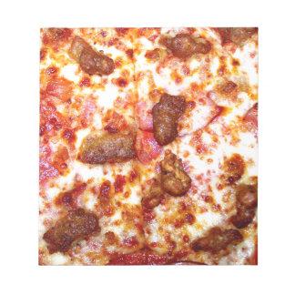 Pizza de la carne bloc de papel