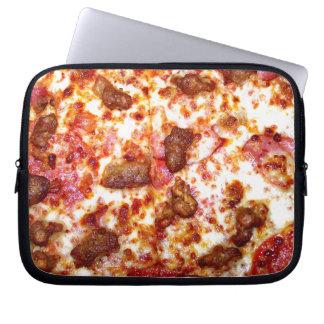 Pizza de la carne manga portátil