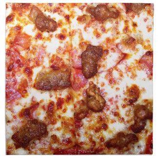 Pizza de la carne servilletas de papel