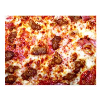 Pizza de la carne tarjetas postales