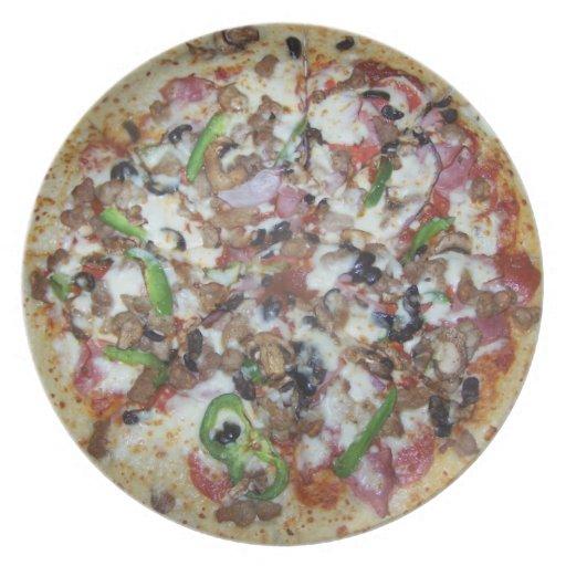 Pizza de la combinación plato para fiesta