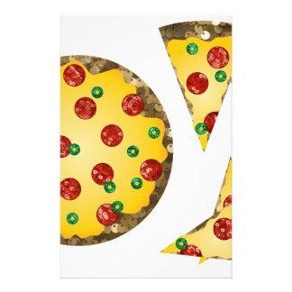 pizza de la lentejuela papelería de diseño