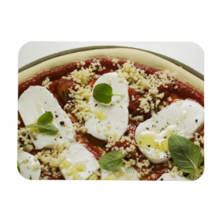 Pizza de la mozzarella (cruda) imán