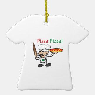 PIZZA DE LA PIZZA ADORNO DE CERÁMICA EN FORMA DE CAMISETA