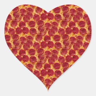 pizza de la pizza pegatina en forma de corazón