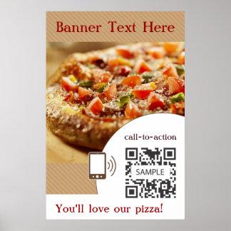 Pizza de la plantilla del poster