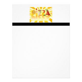 Pizza de la sol membrete a diseño