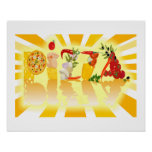 Pizza de la sol poster