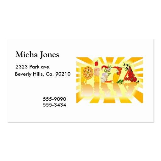 Pizza de la sol tarjetas de visita