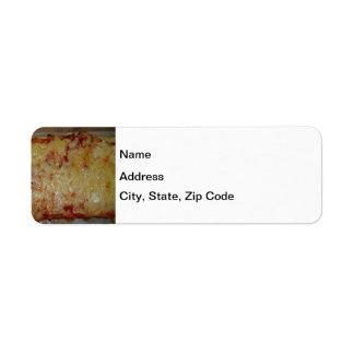 Pizza de queso etiqueta de remite