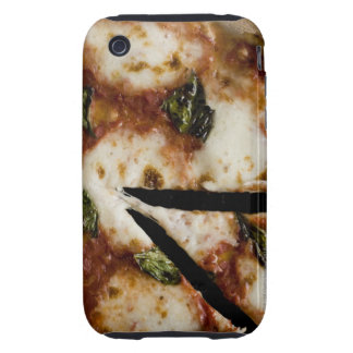 pizza de queso madera-encendida tough iPhone 3 funda