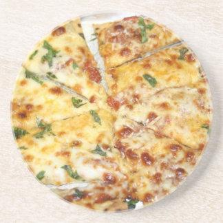 Pizza de queso posavasos para bebidas
