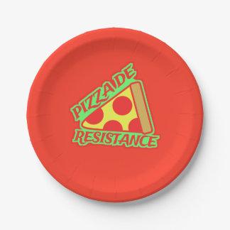 Pizza de Resistance Paper Plate