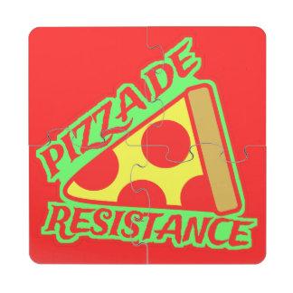 Pizza de Resistance Puzzle Coaster