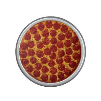 Pizza de salchichones altavoz