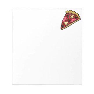 Pizza de salchichones con las setas, las blocs