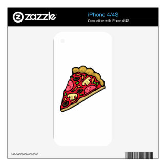 Pizza de salchichones con las setas, las skins para iPhone 4