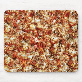 Pizza de salchichones de la salchicha alfombrillas de raton