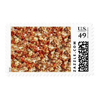 Pizza de salchichones de la salchicha timbres postales