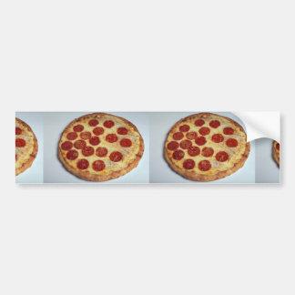 Pizza de salchichones deliciosa pegatina para auto