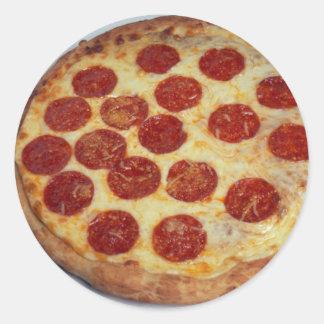 Pizza de salchichones deliciosa pegatina
