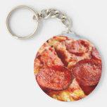 Pizza de salchichones llaveros