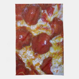 Pizza de salchichones toallas de cocina