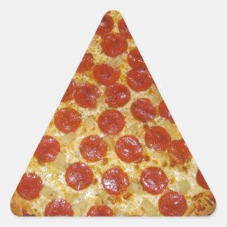 Pizza de salchichones pegatina triangular