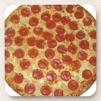 Pizza de salchichones posavasos de bebidas